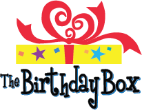 The Birthday Box Sticky Logo